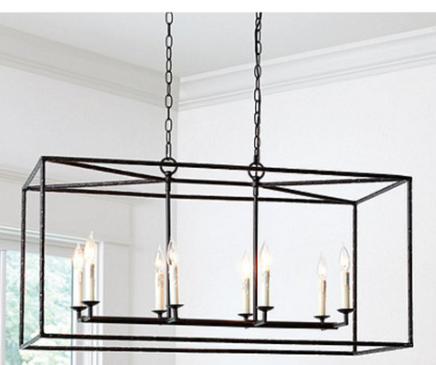Hadley 8-Light Pendant - Rectangular - Ballard Designs