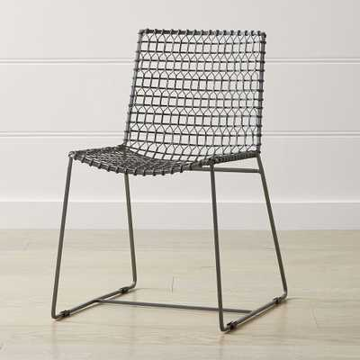 Tig Metal Dining Chair - Crate and Barrel