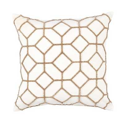 Inman Textured Trellis Pillow - Ballard Designs