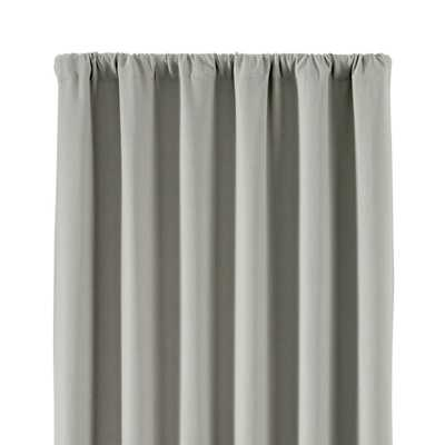 """Wallace 52""""x96"""" Grey Blackout Curtain Panel - Crate and Barrel"""