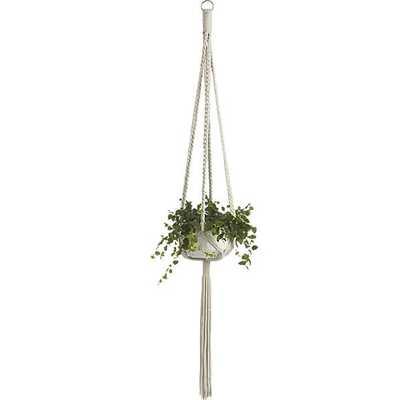Macramé plant holder - CB2
