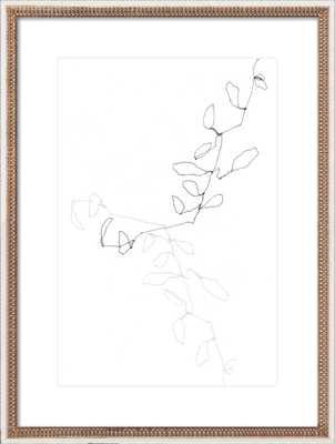 "Eucalyptus 1, 24"" x 32"" (Final Framed Size) Gold Crackle Bead Wood Frame - Artfully Walls"