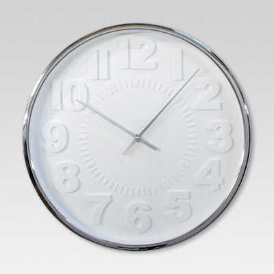 """Raised Number 16"""" Wall Clock - Project 62 - Target"""