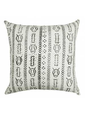 """ONE OF A KIND MUDCLOTH PILLOW, Meria - 18"""" x 18"""" - Down Filled - Lulu and Georgia"""