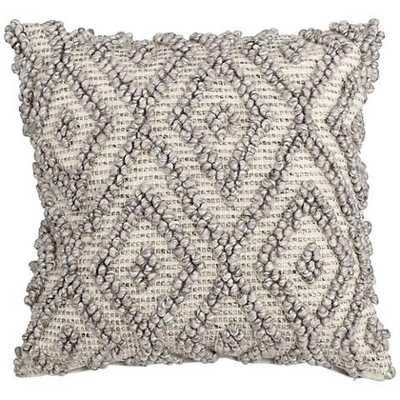 "Diamond Gray 20"" Square Throw Pillow - Lamps Plus"