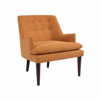 BARON MID CENTURY ORANGE ACCENT CHAIR - Abbyson Living