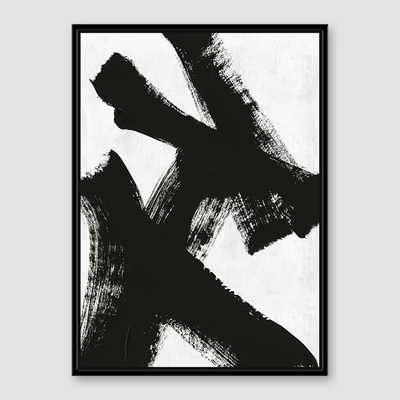Framed Prints - Abstract Ink Brush - Double X - West Elm