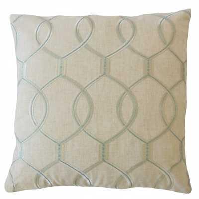Aella Geometric Pillow Mineral - Linen & Seam