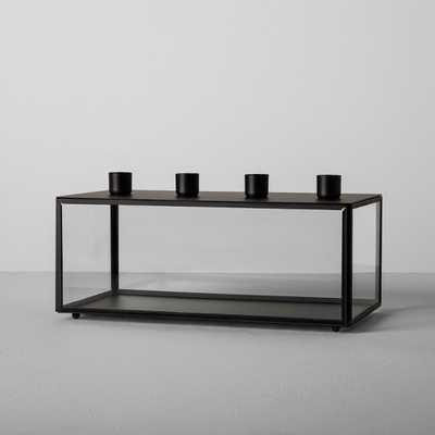 Glass and Metal Taper Candle Holder - Black - Hearth & Hand™ with Magnolia - Target