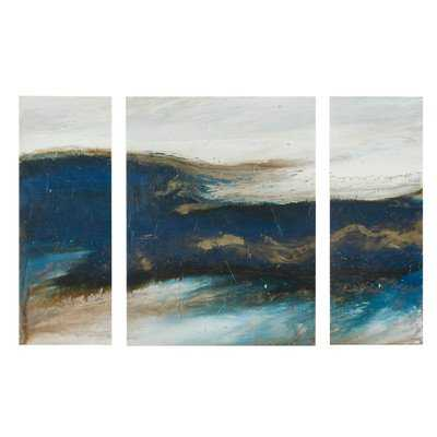'Rolling Waves' by Blakely Bering 3 Piece Graphic Art Set  - 32''  x 48'' - Unframed - Target