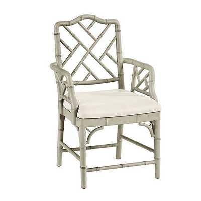 Dayna Arm Chair - Warm Gray - Ballard Designs
