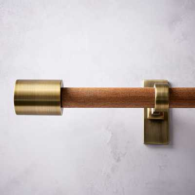 Mid Centruy Wooden Rod in brass and wood - West Elm