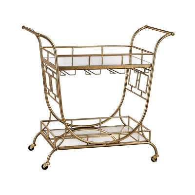 Vera Bar Cart gold - Lulu and Georgia