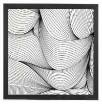 """SEAMLESS LINES Framed Wall Art -30"""" x 30"""" - basic black frame - No mat - Wander Print Co."""