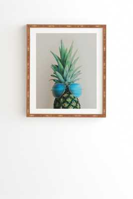 PINEAPPLE IN PARADISE - Gold Frame, 19x22.4 - Wander Print Co.