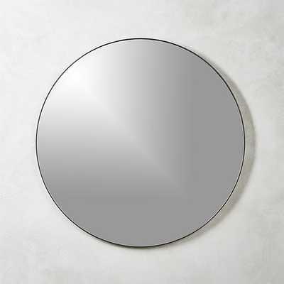 "Infinity black round wall mirror 36"" - CB2"