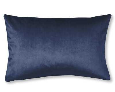 "Velvet Lumbar Pillow Cover, 14"" X 22"", Midnight - Williams Sonoma"