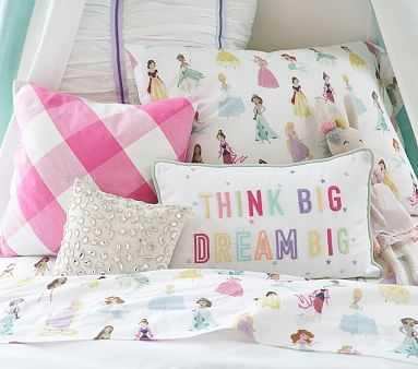 Dream Big Think Big Pillow, 10x16 inches, Multi - Pottery Barn Kids