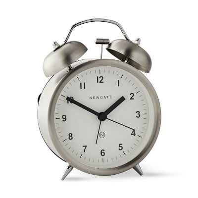 Newgate Charlie Bell Alarm Clock, Stainless Steel - Williams Sonoma