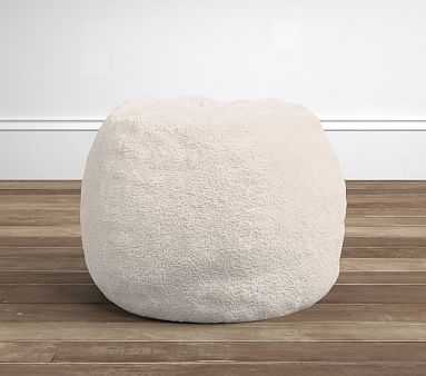 Cream Sherpa Anywhere Beanbag(TM) Insert & Slipcover Set - Pottery Barn Kids