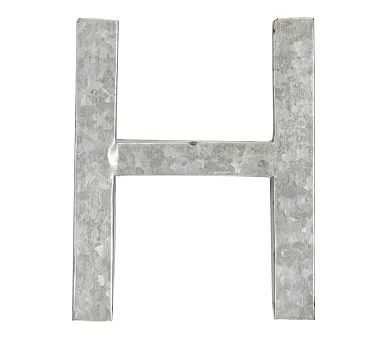 Galvanized Wall Letter, H - Pottery Barn Kids
