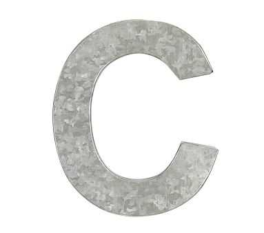Galvanized Wall Letter, C - Pottery Barn Kids