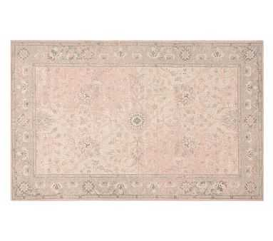 Monique Lhuillier Antique Rug, Blush Pink, 5x8' - Pottery Barn Kids