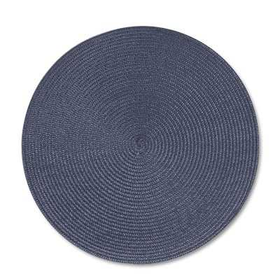 Round Woven Place Mats, Set of 2, Blue - Williams Sonoma