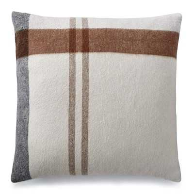 """Plaid Lambswool Pillow Cover, 22"""" X 22"""", Hudson - Williams Sonoma"""