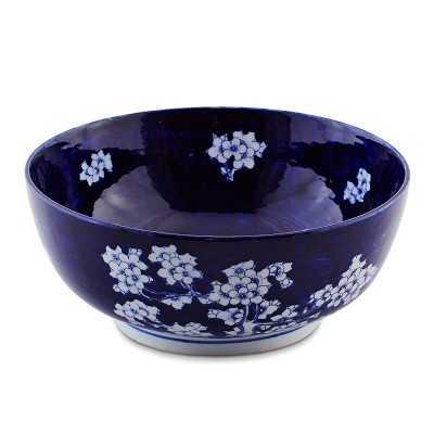 Chinoiserie Ceramic Bowl, Flower Motif, Medium - Williams Sonoma