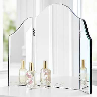 Mirrored Trifold Vanity - Pottery Barn Teen