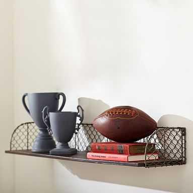 Industrial Metal Shelf 3' - Pottery Barn Teen