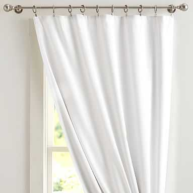 "Classic Sailcloth Blackout Curtain Panel, 96"", White - Pottery Barn Teen"