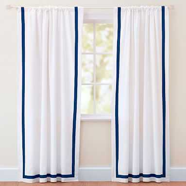 """Suite Ribbon Drape With Blackout, 84"""", Royal Navy - Pottery Barn Teen"""