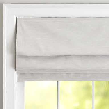 Classic Linen Roman Shade, 26 x 64, Gray - Pottery Barn Teen