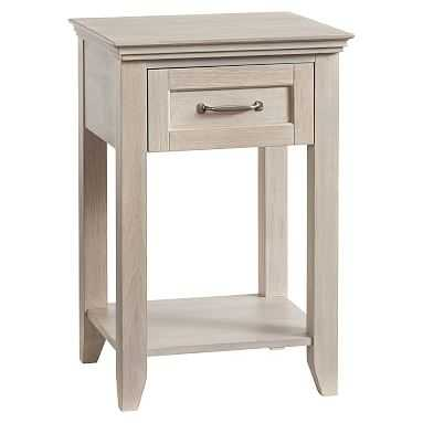 Hampton Bedside Table, Water-Based Brushed Fog - Pottery Barn Teen