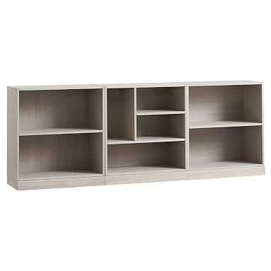 Stack Me Up Low Bookcase Set, Water-Based Brushed Fog - Pottery Barn Teen