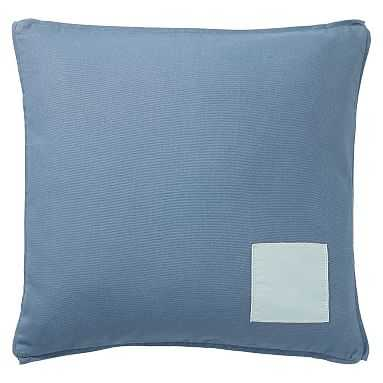 Classic Canvas Pillow Cover, 18x18, Slate Blue - Pottery Barn Teen