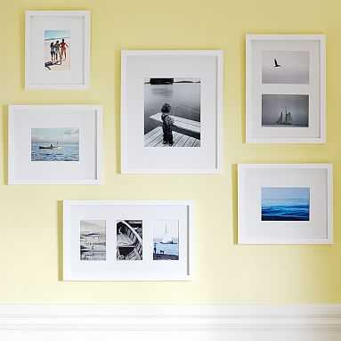 Gallery Frames, Gallery In A Box, Set of 6, Modern White - Pottery Barn Teen