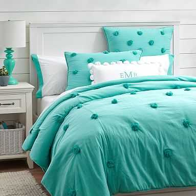 Crinkle Puff Quilt, Twin, Pool - Pottery Barn Teen
