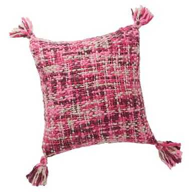 Chunky Knit Pillow Cover, 18x18, Pink Multi - Pottery Barn Teen