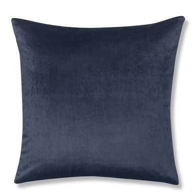 """Velvet Pillow Cover, 22"""" X 22"""", Midnight - Williams Sonoma"""