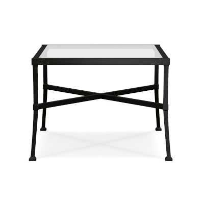 Bridgehampton Outdoor Side Table, Glass, Aluminum - Williams Sonoma
