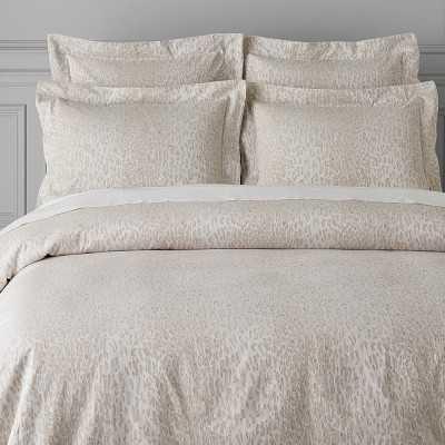 Cheetah Jacquard Bedding, Sham, King, Natural - Williams Sonoma