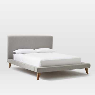 Mod Upholstered Platform Bed - Feather Gray, Queen - West Elm