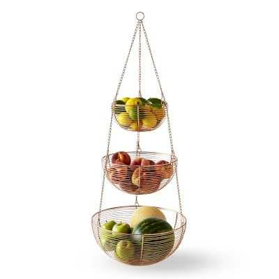 Copper Hanging Wire Fruit Basket, Tiered - Williams Sonoma