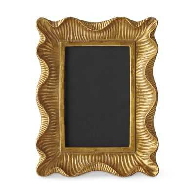 "AERIN Gold Scalloped Gallery Frame, 4"" X 6"" - Williams Sonoma"