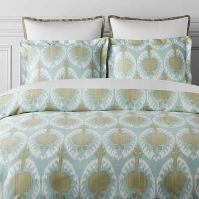 Printed Marrakesh Ikat Bedding, King/California King Duvet, Seafoam - Williams Sonoma