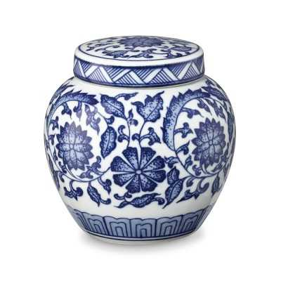 Garden Floral Petite Ginger Jar, White & Blue - Williams Sonoma