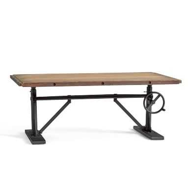 Pittsburgh Crank Coffee Table, Washed Pine - Pottery Barn